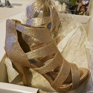 gold plated shoes